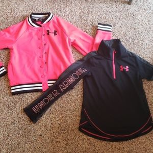 Set of two Under Armour girls jackets.